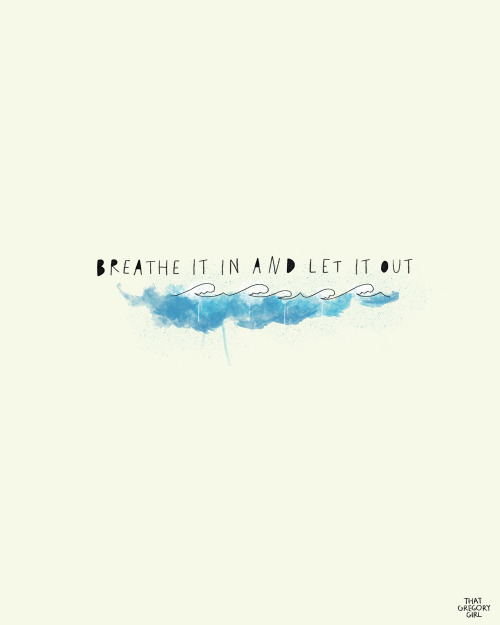 atme ein und lass es los